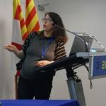 Dra. Carla Estivill-Domènech presentando los resultados en el Congreso de Medicina del Deporte, celebrado en Manresa en Noviembre 2014
